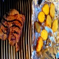 Steak with baby Yukon Gold potatoes