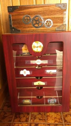 The Retail Display 7 Cigar Humidor Hum Dis7 01