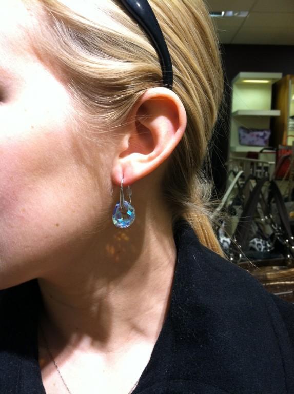201cd07aa Swarovski Galet Clear Crystal Pierced Earrings Image Of Earring
