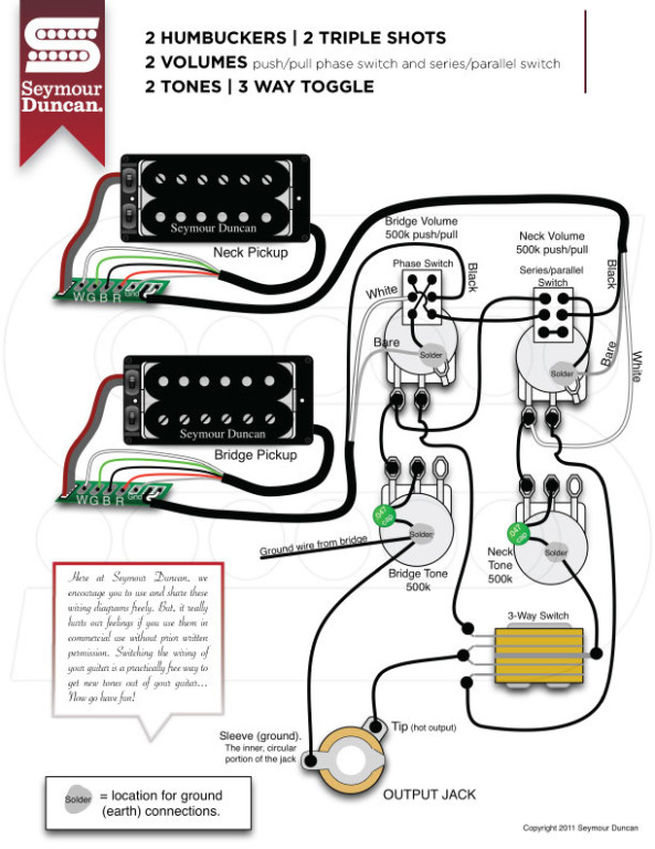 Seymour duncan wiring diagram easy to install dolgular seymour duncan ts 2s triple shot carved top pickup mounting ring cheapraybanclubmaster Image collections