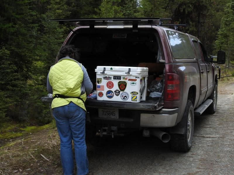 Fixing lunch out of our Tundra 50 after a morning hike