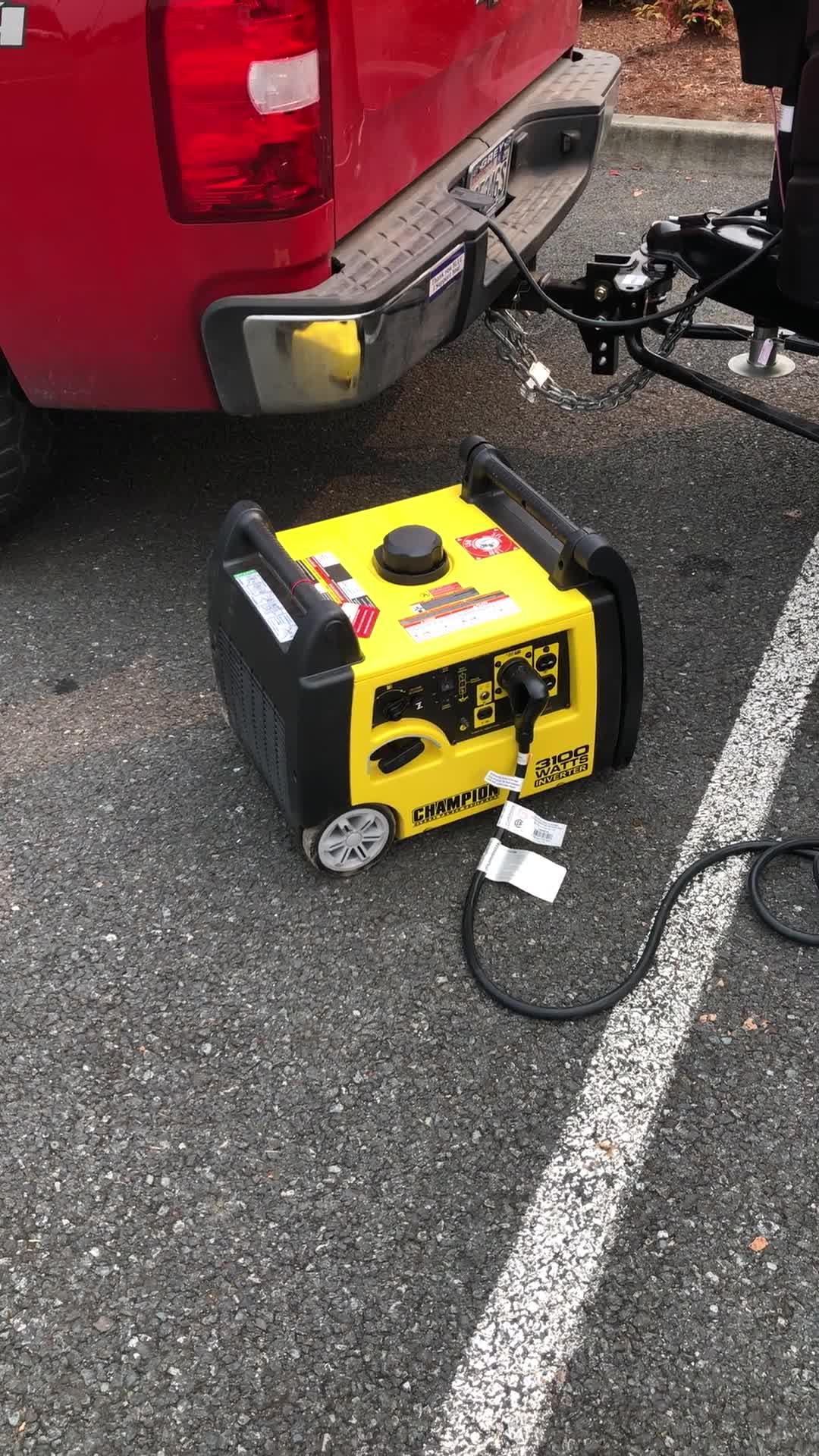 3100 Watt Inverter Generator Champion Power Equipment 4000 Wiring Absolute Using My Microwave In The Cabelas Parking Lot Play