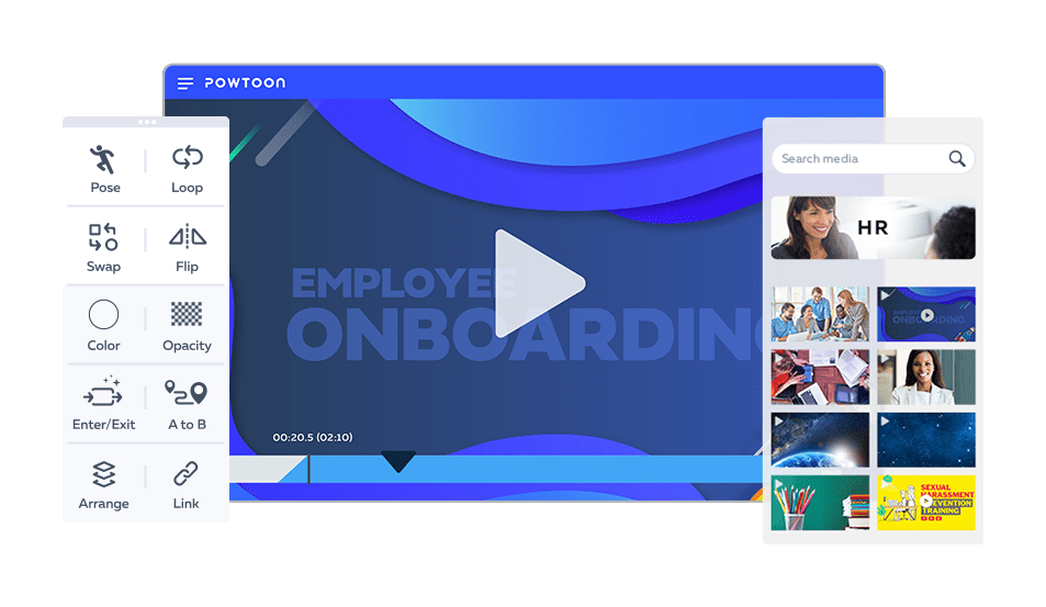hr video template
