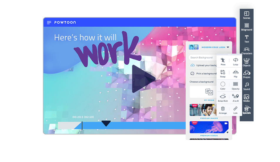 internal comms video creating platform