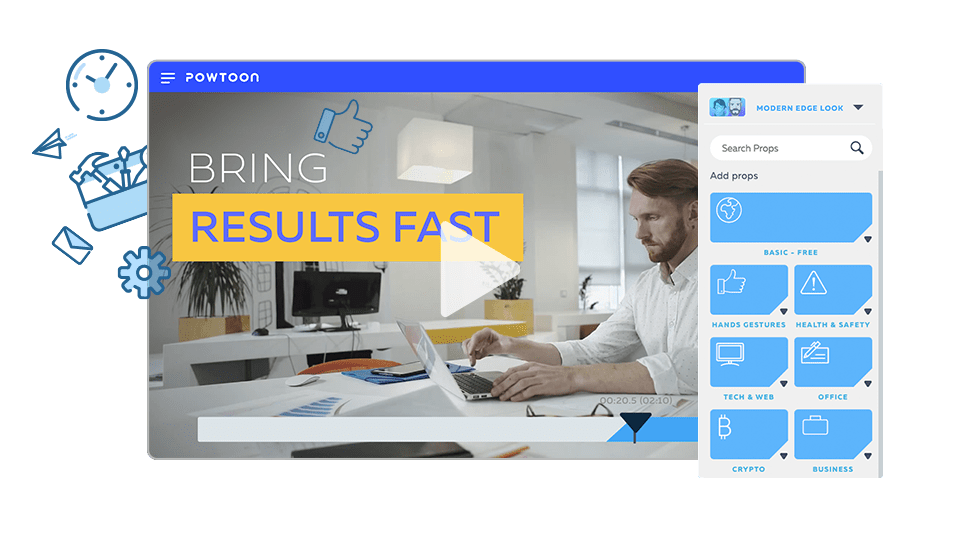 Visual marketing video platform