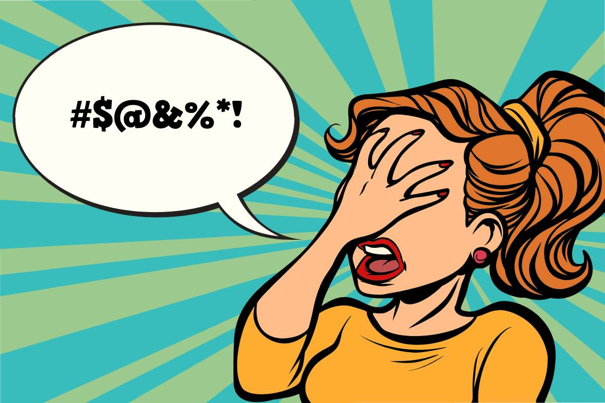 Face Palm Swearing Cartoon