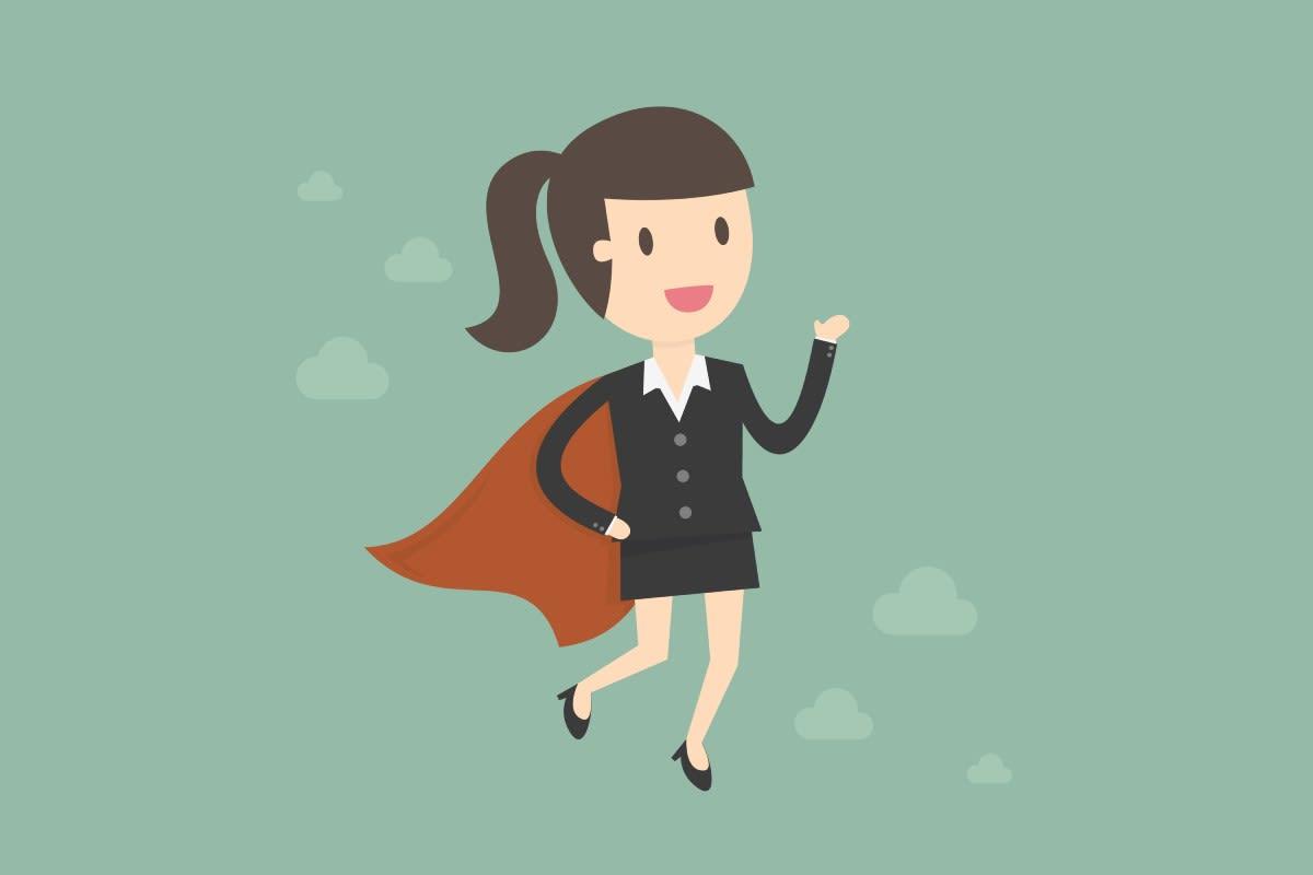 Super Woman Vector
