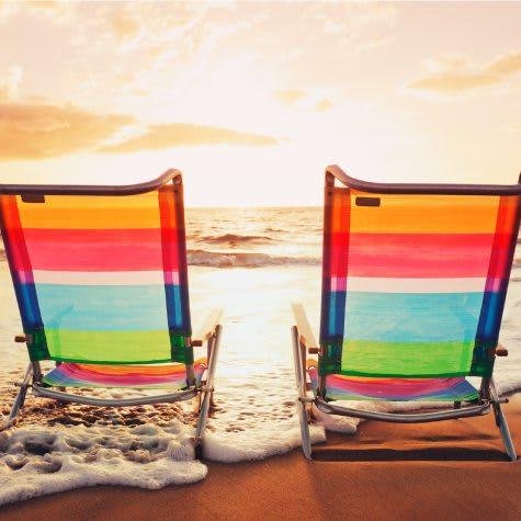 Beach Chairs Sunrise
