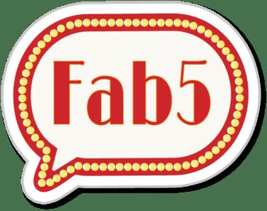 Fab 5 badge