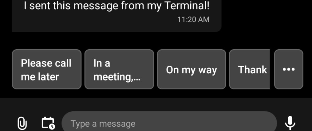 Cover image for How to send SMS in 5 seconds right from your Terminal?