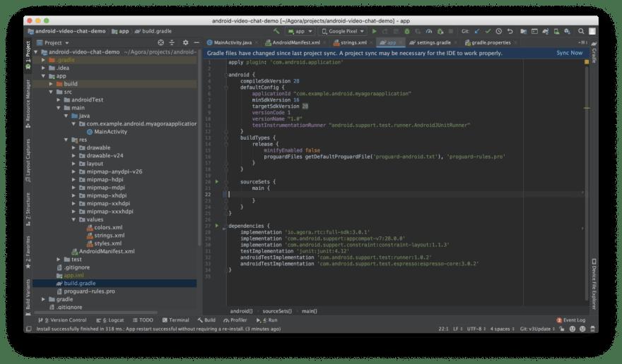 Agora SDK integration using JCenter