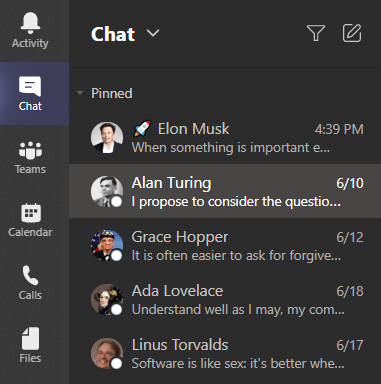 Microsoft Teams with disabled status icons