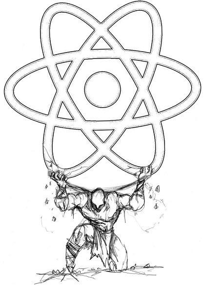 Atlas hold the react logo