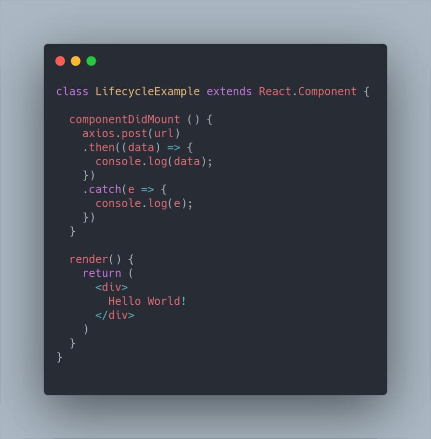 componentDidMount example