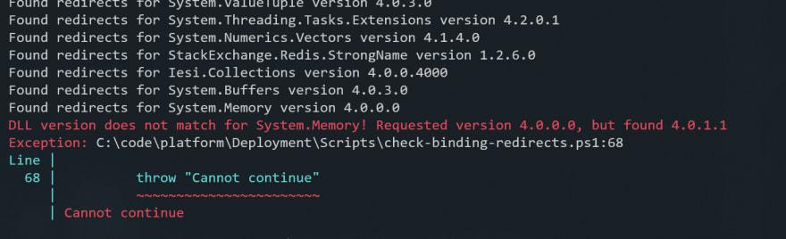 screenshot of assembly checking tool