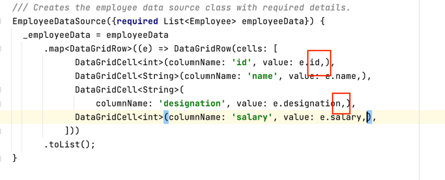 Unformatted code