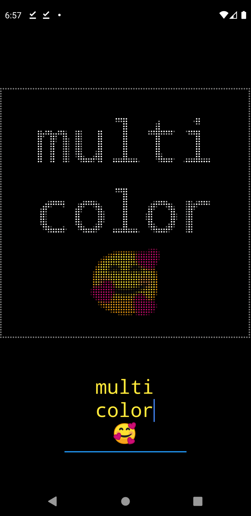 Flutter LED display iteration 6