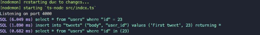 Add tweet mutation sql queries