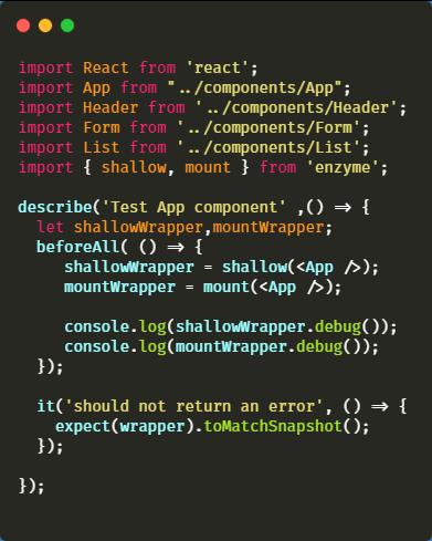 updated index.test.js