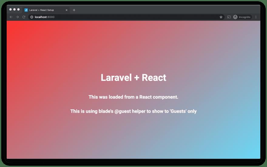 Laravel + React