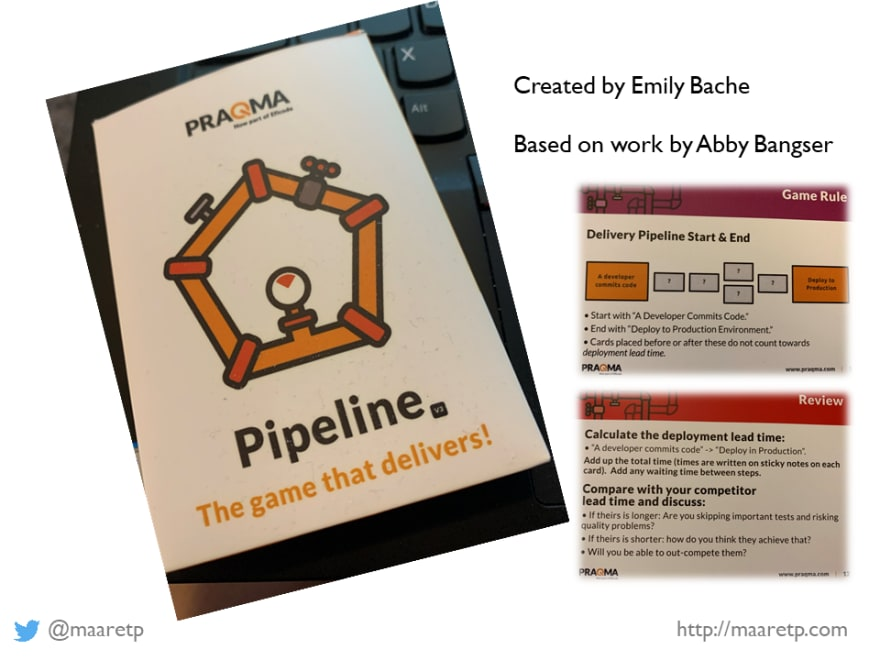 Pipeline, the card game for learning