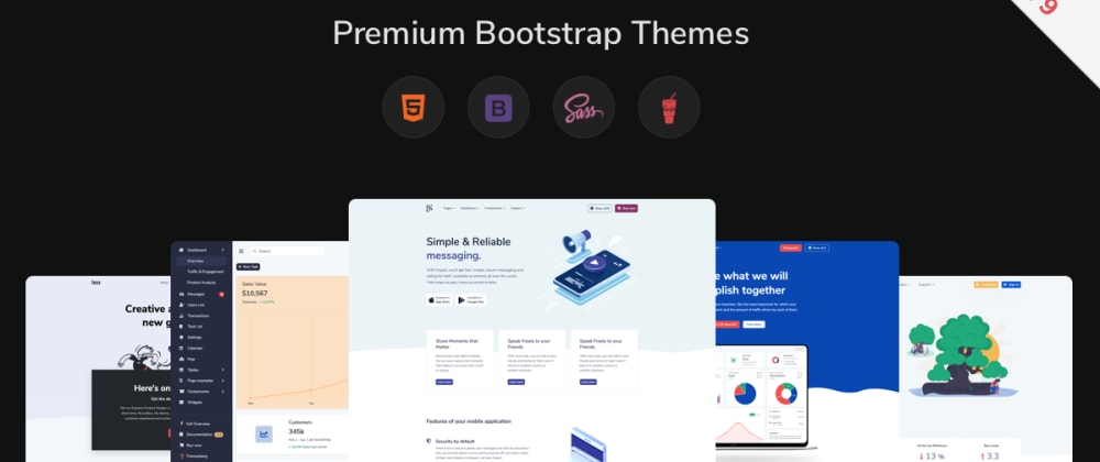 Cover image for Black Friday 90% Off Bootstrap Themes, Admin Templates, and UI Kits