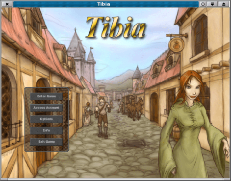 Game Tibia very old Entry Screen