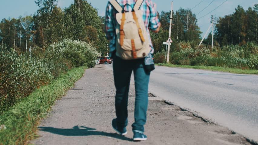 walking in street