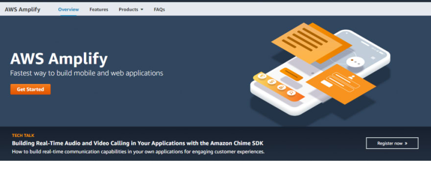 AWS Amplify homepage