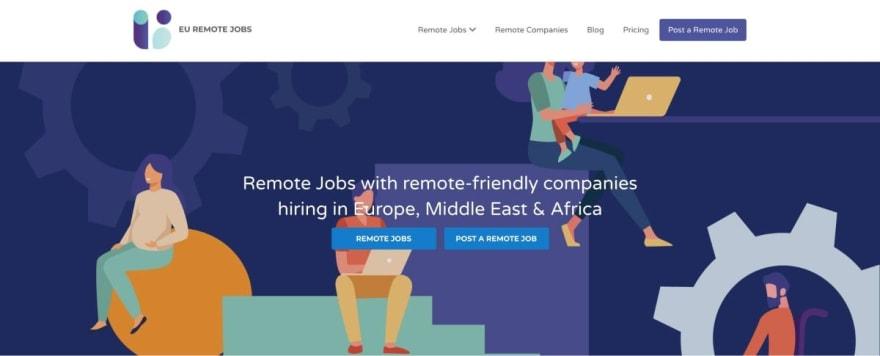 EU Remote Jobs website