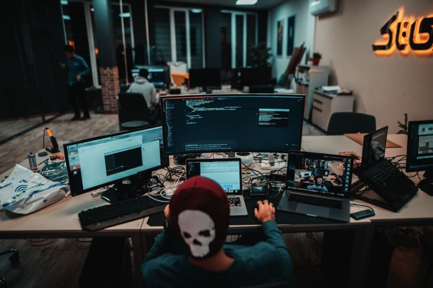 Developer sitting in a room