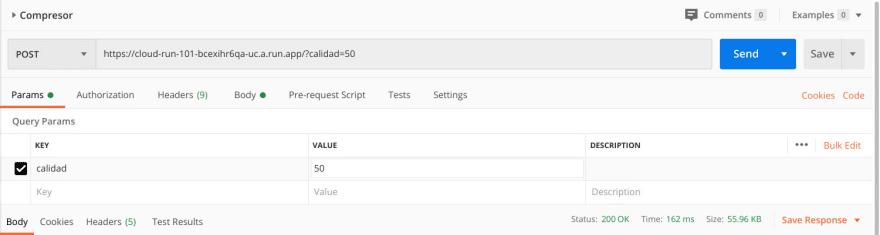Se especifica el párametro URL calidad