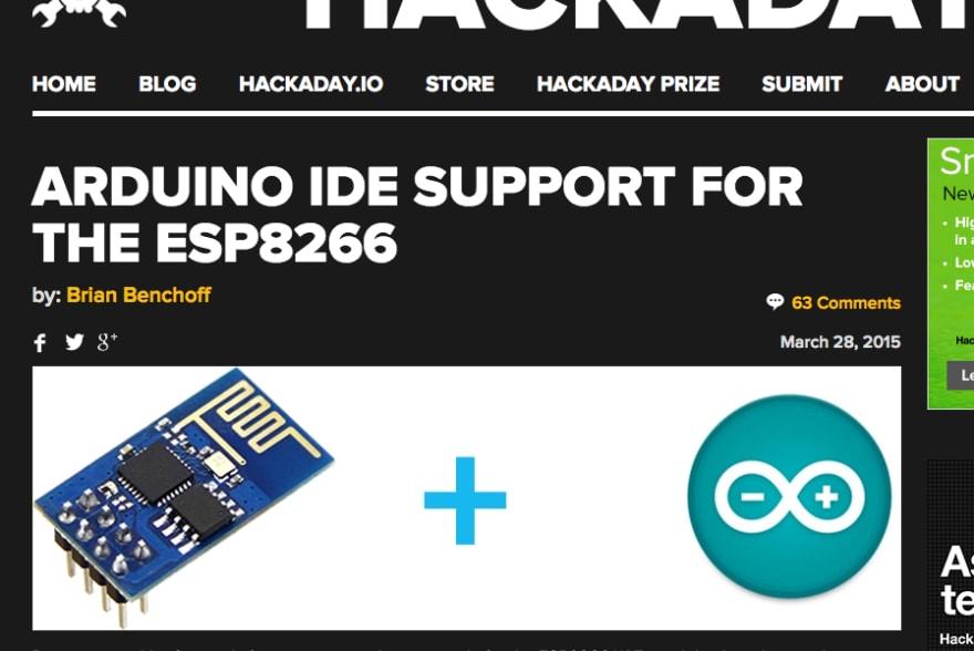 [http://hackaday.com/2015/03/28/arduino-ide-support-for-the-esp8266/](http://hackaday.com/2015/03/28/arduino-ide-support-for-the-esp8266/)