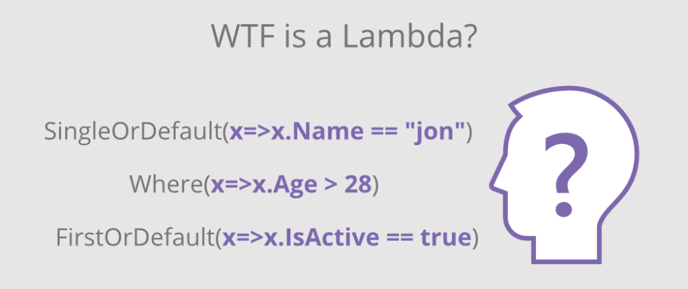 Cover image for WTF Is a Lambda?