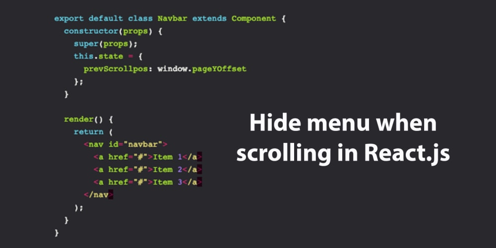 Hide menu when scrolling in React js - DEV Community
