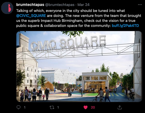 Image of tweets about Civic Square scheme
