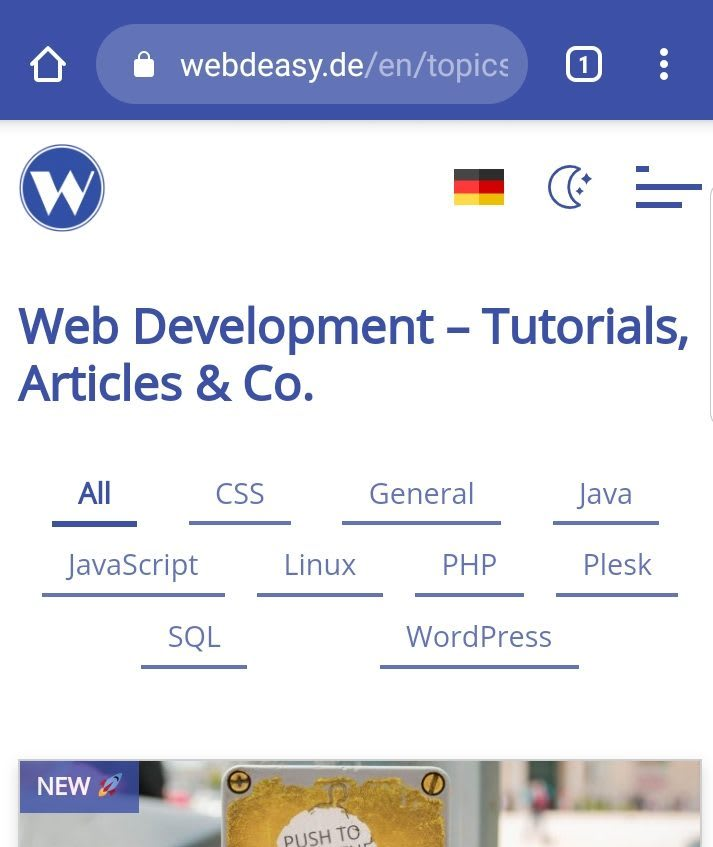 Screenshot from webdeasy.de