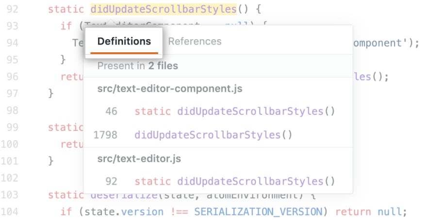 The code behind GitHub's new Code Navigation