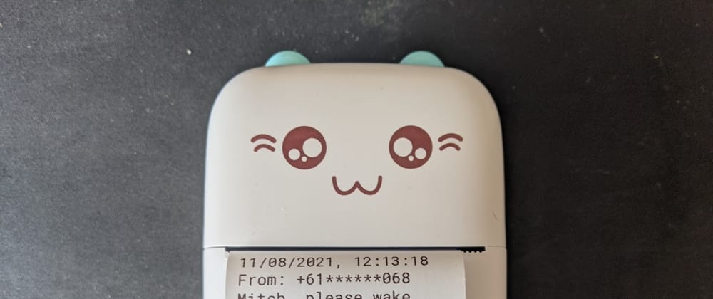 Cover image for My Textable Cat Printer