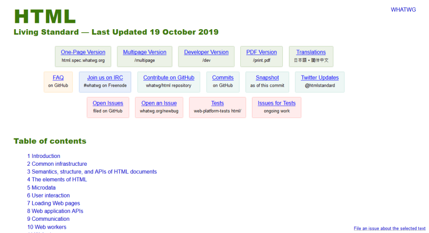 HTML Standard