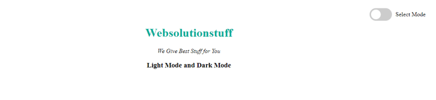 How To Toggle Dark and Light Mode using jQuery