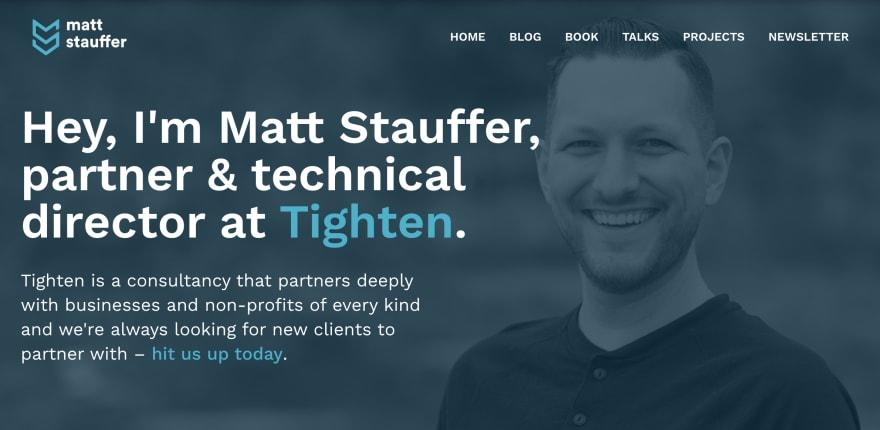 Matt Stauffer is among the best PHP bloggers