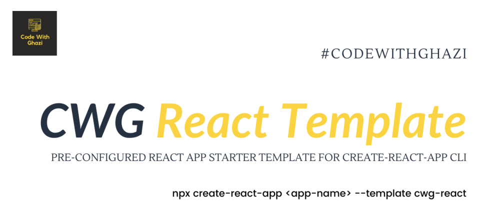 Cover image for Best cra-template to start a react project