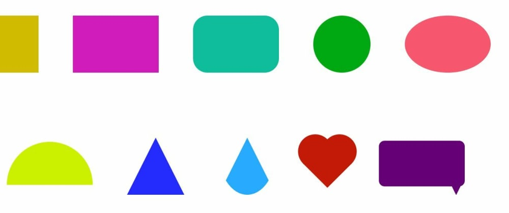 Cover Image for 10 Super easy CSS Shapes for beginners