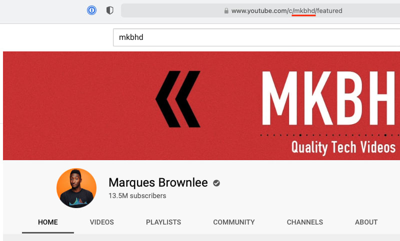 Screenshot of MKBHD's YouTube channel
