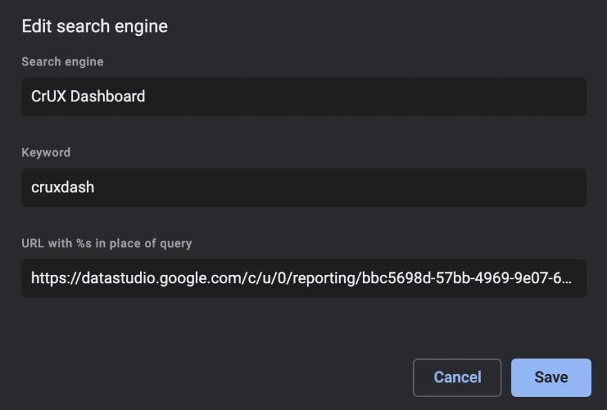 Configuring the shortcut