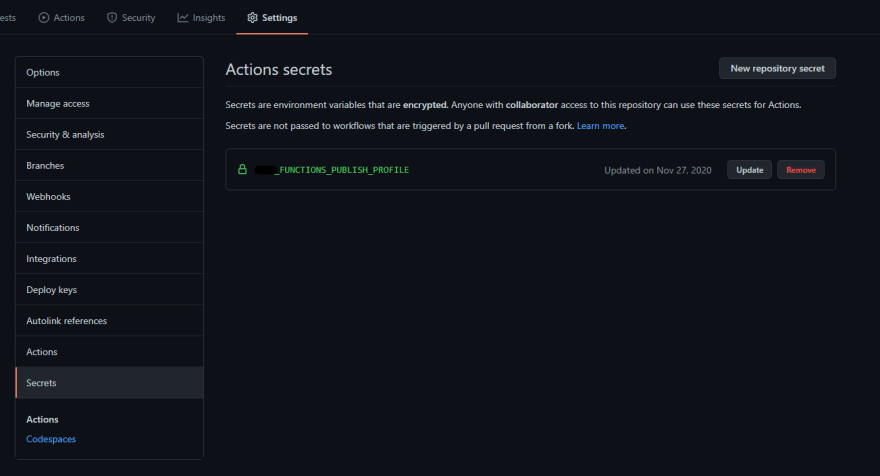 A screenshot of my GitHub repository