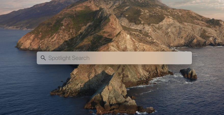 Spotlight Search UI on Mac OS Catalina