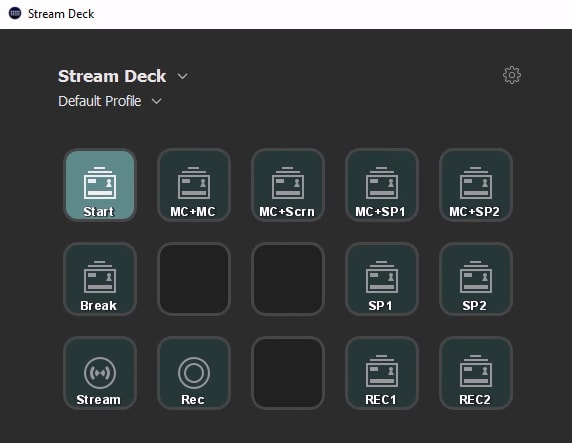 Stream Deck software on the VM.