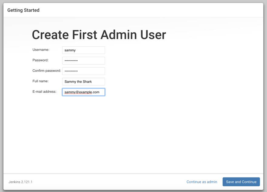 Jenkins Create User